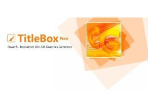 VIDEO TITLER TITLEBOX NEO