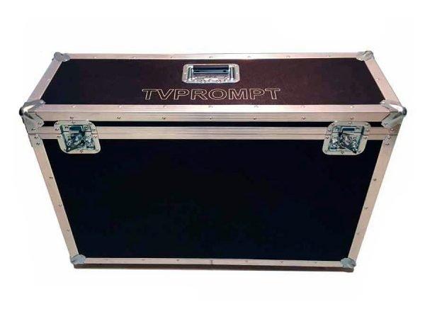 Transport case for stage teleprompter