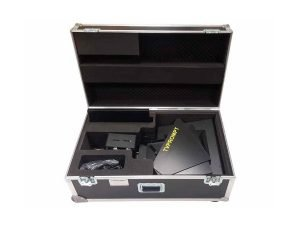 Transport case for studio teleprompter